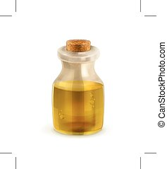 Oil bottle illustration - Oil bottle, illustration, isolated...