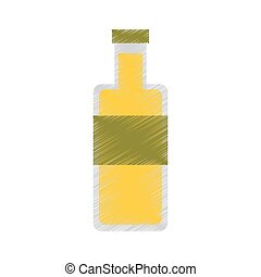 oil bottle isolated icon