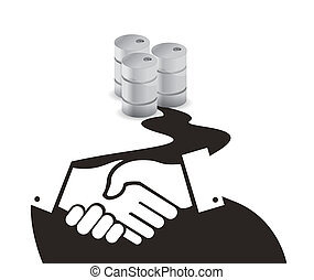 oil business agreement concept illustration