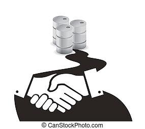 oil business agreement concept illustration