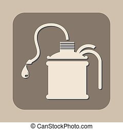 oil can vector icon