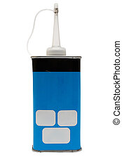 Oil Can w/ Path - Blue oil can with space for your text. ...