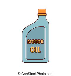 Oil canister icon, cartoon style