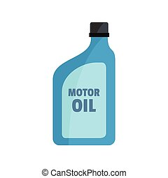 Oil canister icon, flat style