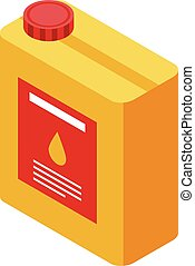 Oil canister icon, isometric style