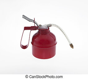 Oil cans red