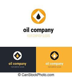 Oil company logo with drop. Vector logo design.
