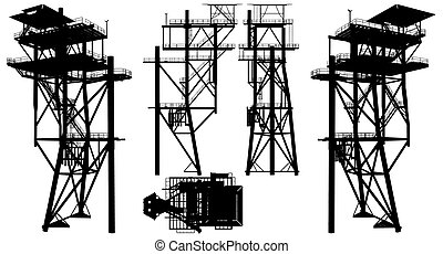 Oil Construction Platform Vec...