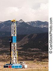 Oil Derrick Crude Pump Industrial Equipment Colorado Rocky Mountains