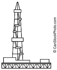 Oil derrick icon - Illustration of the oil derrick icon