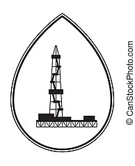 Oil derrick illustration - Illustration of the concept oil...