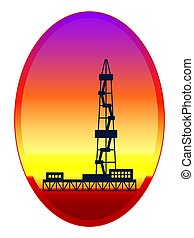 Oil derrick illustration - Illustration of the oil derrick...