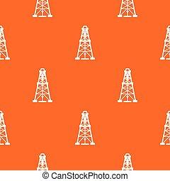 Oil derrick pattern vector orange for any web design best