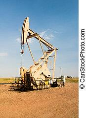 Oil Derrick Pump Jack Fracking Energy Production