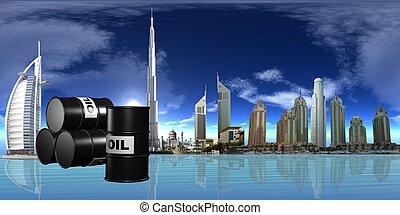OIL - 3d illustration of oil
