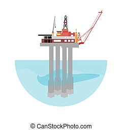 Oil drilling machine platform. Energy conceptual image....
