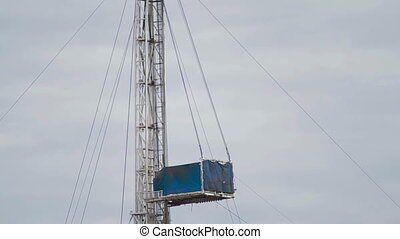 Oil Drilling rig A vertical pan - Drilling rig. A vertical...