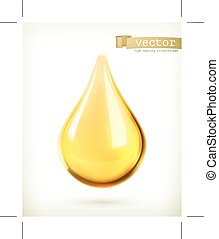 Oil drop icon - Oil drop, vector icon, isolated on white...
