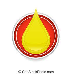oil drop symbol yellow color