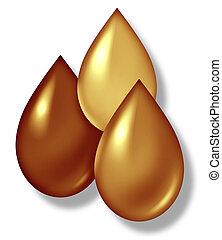 Oil Drops - Oil drops symbol representing the oil gas and...