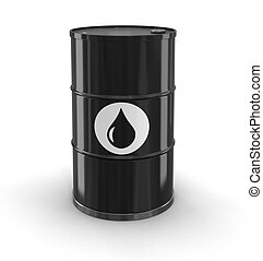 Oil drum (clipping path included)