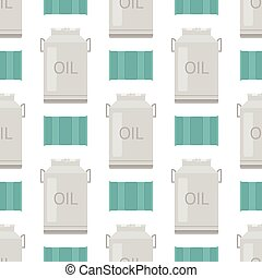 Oil drums container fuel cask storage rows steel barrels capacity tanks natural metal bowels seamless pattern background vessel vector illustration