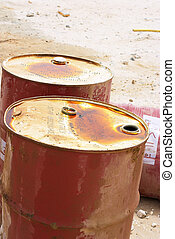 Oil drums - Oil Barrels in Arabia (part of Arabic...
