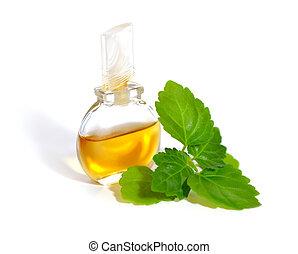 oil., esencial, patchouli, puntilla