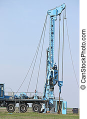 oil exploration mobile drilling rig vehicle