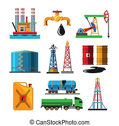 Oil extraction transportation vector illustration