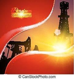 Oil field illustration.