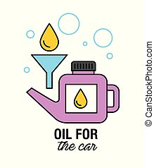 oil for the car motor mechanic service transport