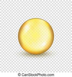 Oil gold pill capsule