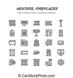 Oil heater, fireplace, convector, panel column radiator and...