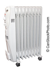 Oil heater. Isolated on white background with clipping path....