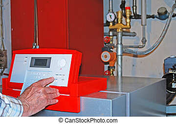modern heating in the basement