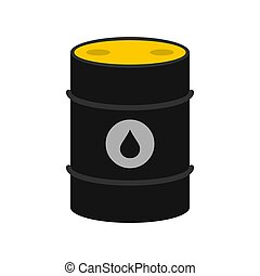Oil icon, flat style
