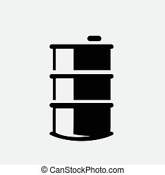 Oil icon isolated on white background