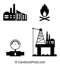 oil icon set