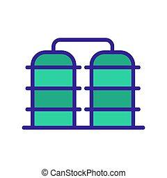 oil icon vector storage. Isolated contour symbol illustration