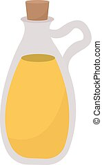 Oil in bottle, illustration, vector on white background.