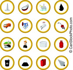 Oil industry cartoon icon circle