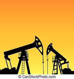 Oil industry. - Oil pump industrial machine for petroleum in...