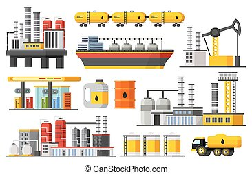Oil Industry Elements Collection