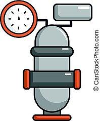 Oil industry equipment icon, cartoon style