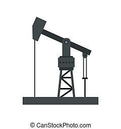 Oil industry equipment icon, flat style