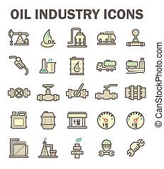 Oil industry icon - Oil and gas industry vector icon sets.