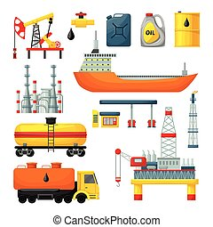 Oil Industry Icons Collection