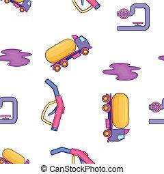 Oil industry pattern, cartoon style