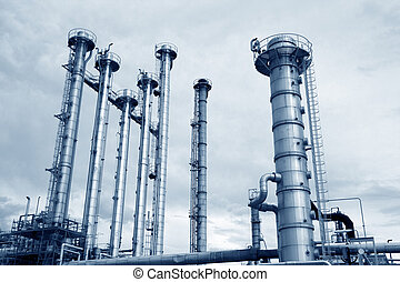 Oil industry - Pipelines of a oil and gas refinery...